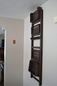 Wall hung with shelves