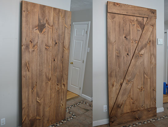 barn doors; sliding or traditionally hung