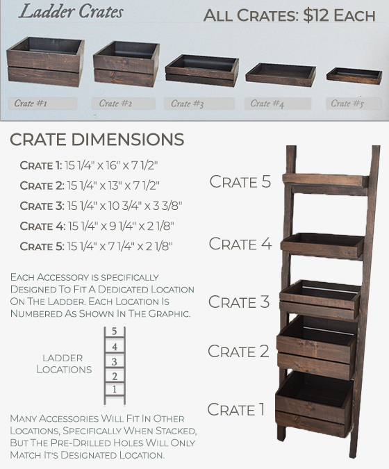 ladder crates