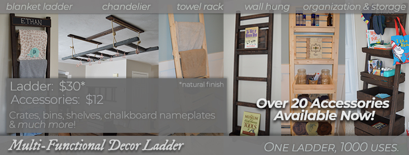 multi-functional decor ladder with accessories
