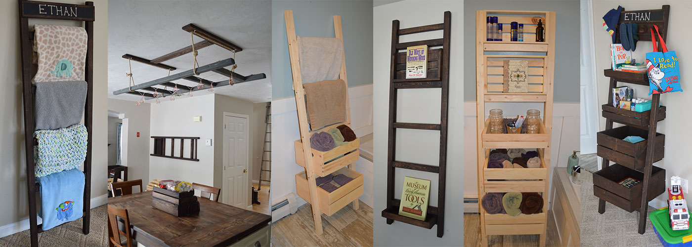 multi-functional interior decor ladder
